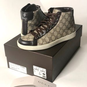 7bb23c20f6c8 Men s Gucci Supreme GG Canvas High Top Size 9.5US